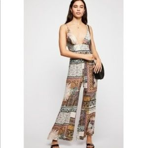 Free People Margarita Patchwork Jumpsuit